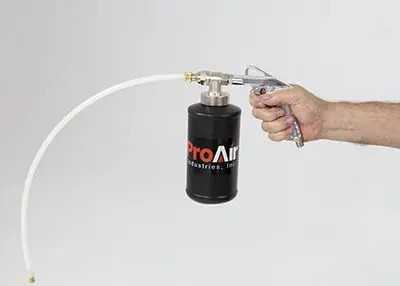 Bio-Clean Duct Sanitizer in workers hand low res